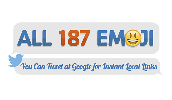187 Emoji Symbols You Can Tweet at Google for Instant Search Results [Infographic]